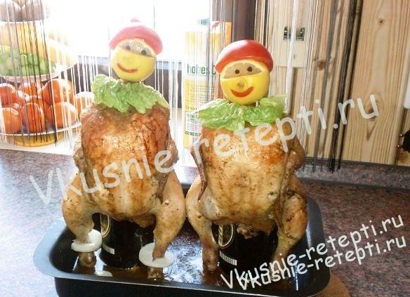 Рецепты курицы на бутылке в духовке