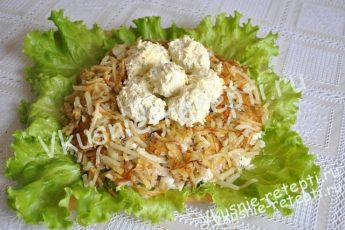 Куриный салат Гнездо глухаря