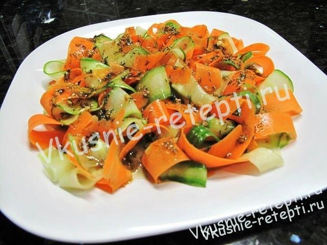 Салат с морковью » Необычный «