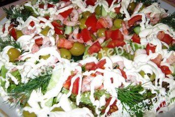 Салат с криветками «Романтика»