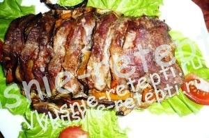 запеченная свинина с овощами, Свинина с овощами