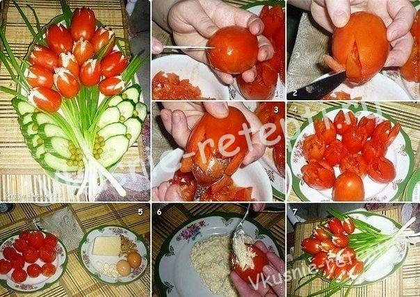 Украшения из овощей, фото