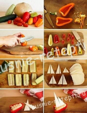 Украшение из овощей, фото
