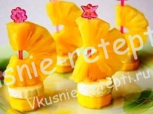 Украшения из фруктов, фото