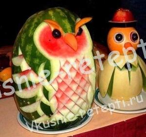 Карвинг  из фруктов и из овощей