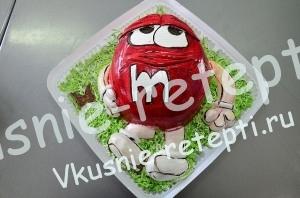 детский торт из мастики с клубникой