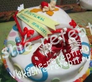 детский торт безе на крестины