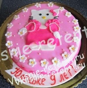 детский вафельный торт из мастики машинка