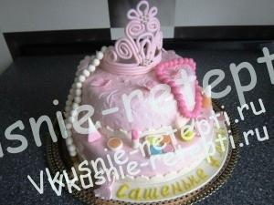 детский торт из мастики с черносливом, фото