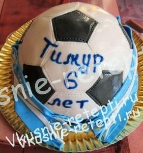 детский торт для мальчиков футбольный мяч фото