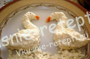 Детское праздничное меню десерт из творога