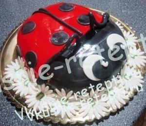 детский торт из мастики Наполеон