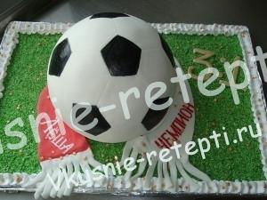 футбольный детский торт