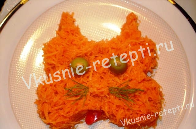 Морковный витаминный салат,фото