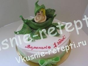 Детский торт из мастики на годик мальчику