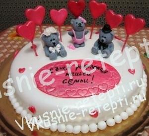 свадебный торт медовик сметанный