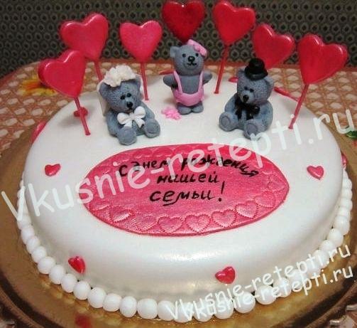 Надпись на торте на годовщину свадьбы