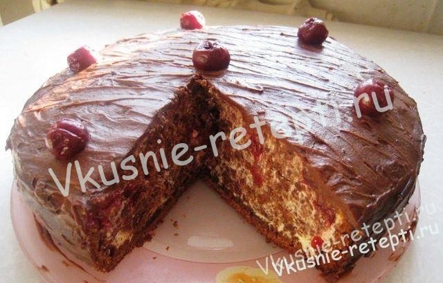Рецепты тортов пьяная вишня фото