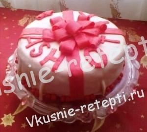 вафельный торт подарок со сметанным кремом