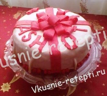 Торт цветок своими руками
