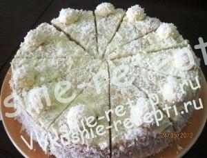 домашний торт Рафаэлло, фото