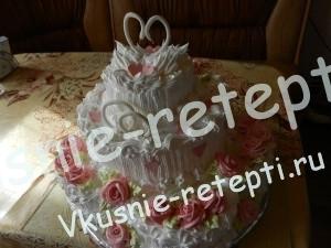 свадебный торт без выпечки