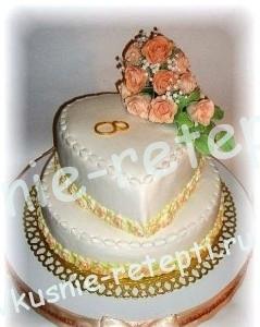 Необычный свадебный торт птичье молоко