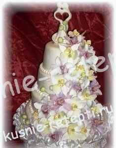 Свадебный торт из мастики спартак со сливочным кремом