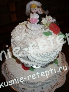 Оригинальный и необычный свадебный торт