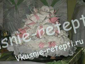 Торт горка из мастики свадебный