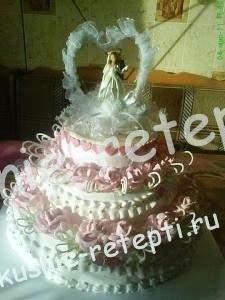 Оригинальный и необычный свадебный торт трюфель с кремом из сливок