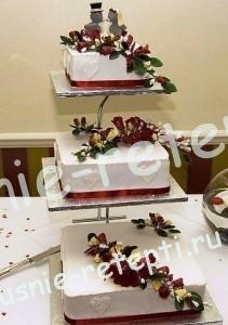 Торт свадебный, Свадебные торты на подставке