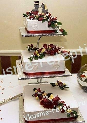 Торты фото свадебные на подставке