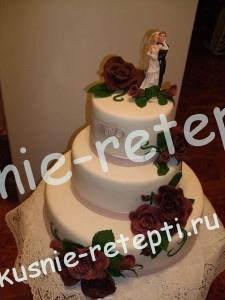 торт свадебный Медовик