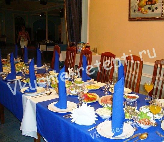 домашняя сервировка стола, фото