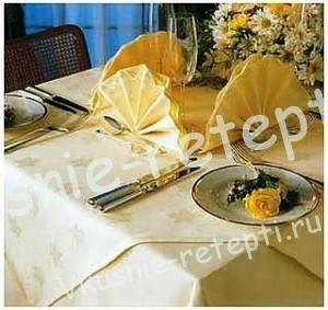 Салфетки для сервировки стола, фото