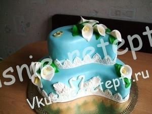 Торт  свадебный с грецкими орехами с заварным кремом, фото