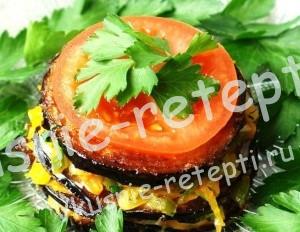 Холодная закуска из баклажанов - Баклажановые башенки, фото