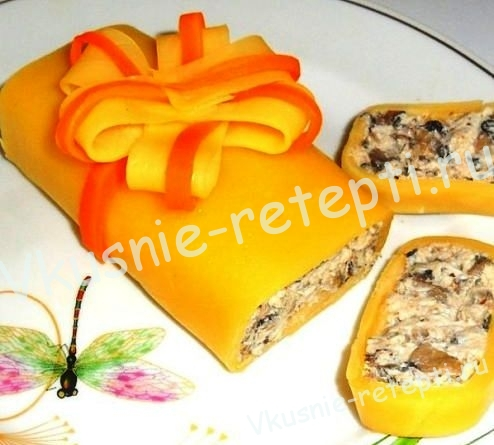 Закуска на день рождение - Банкетный батончик в корочке из сыра,фото