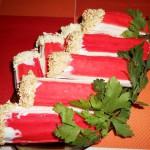 фаршированные крабовые палочки,фото