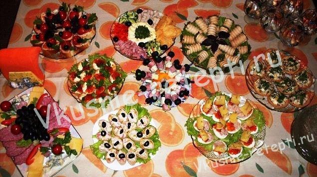Простые закуски на день рождения фото