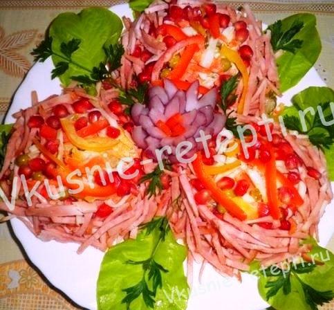 вкусный салат на скорую руку Ласточкины гнезда,фото