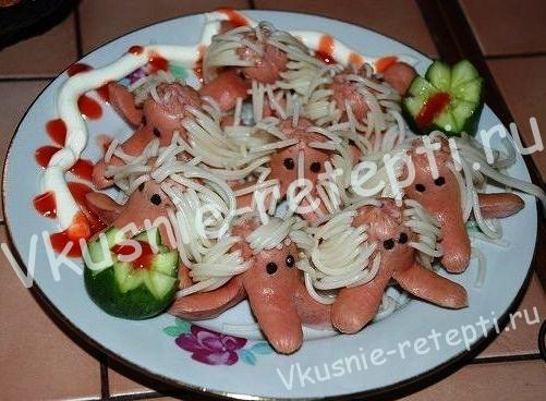 Вкусные волосатые сосиски, фото