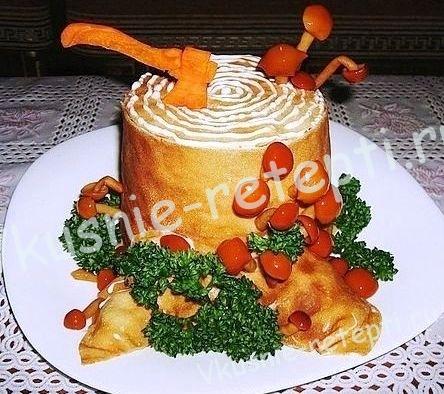 салат с курицей Пенек, фото