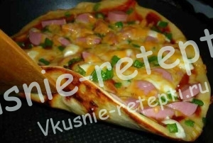 пицца на сковороде, фото