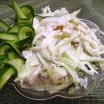салат из кальмаров, фото
