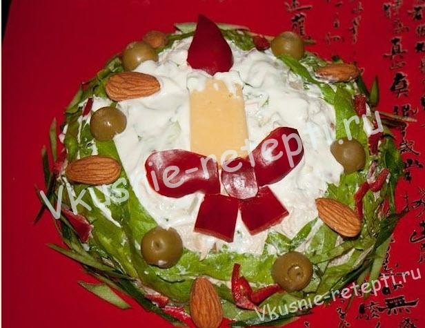 куриный салат, фото