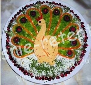салат с грибами Жар птица
