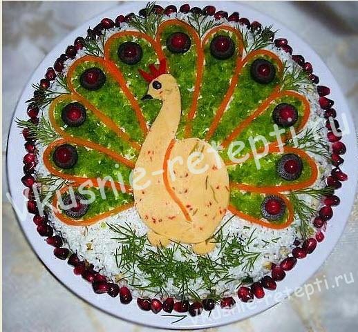 салат с грибами Жар птица, фото
