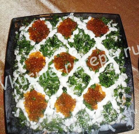 Салат королевский рецепт с морепродуктами